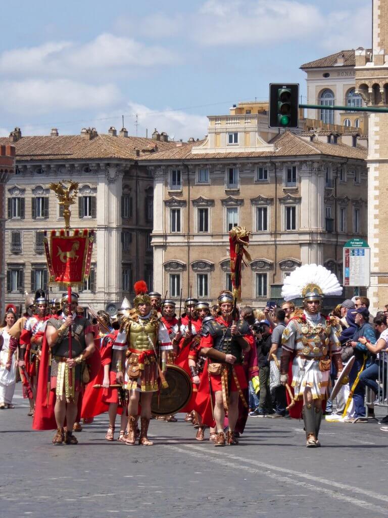 Offiziere und Mannschaften der Legio 2 Augusta