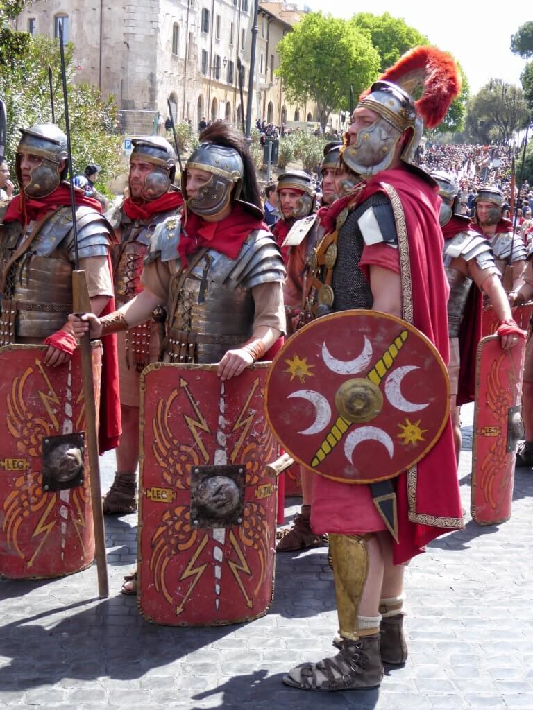 Natale di Roma 2017 - Darsteller römischer Legionäre