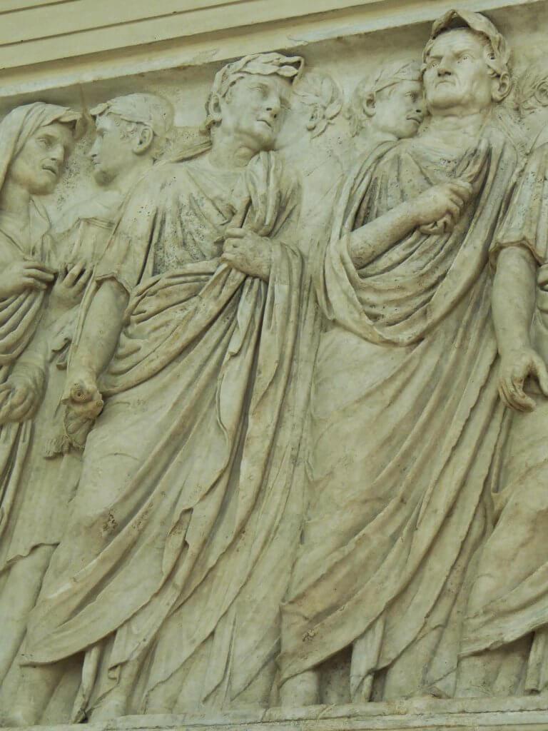 Nordseite des Reliefs des Altar des Friedens des Augustus.